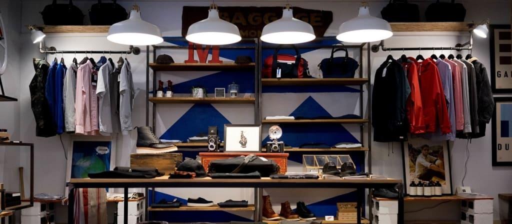 Fashion store environment.