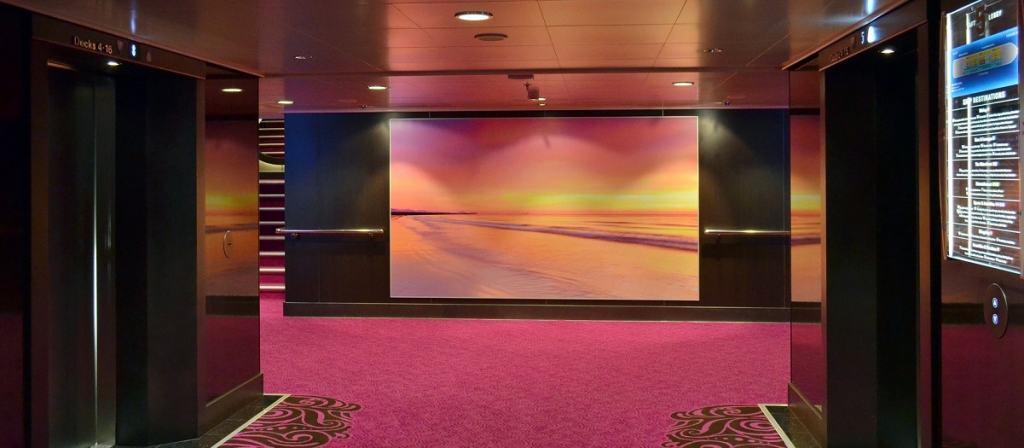 Hotel lobby environment.
